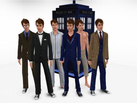 The Sims 3 - Doctor Who - Tenth Doctor by exangel42
