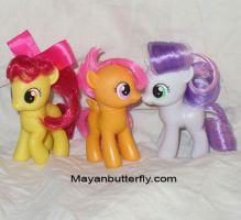 Cutie Mark Crusaders With Custom Hair Styles by mayanbutterfly