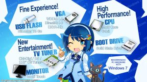 Windows 7 Nanami theme by Drudicta