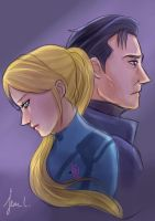 Metroid: Samus and Adam by WithSkechers
