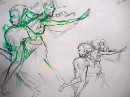 Hades and Persephone sketches by munchner-kindl