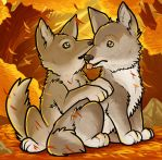 Wolf Pups by Dragoart