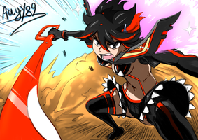 Kill la kill Sketch color by Angy89