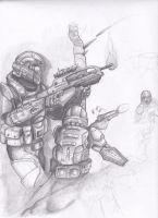 ODST in action WIP by SAWg3rd