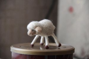 Felting - sheep. by Moonticore
