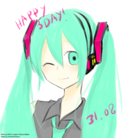 HBD Hatsune Miku by 7mint-and-chocolate