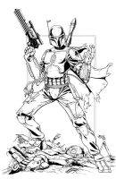 Boba Fett inks by seanforney