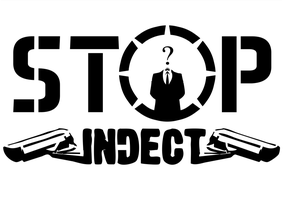 INDECT Stencil A3 by OpGraffiti