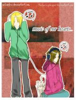 Music Of our Hearts by theluckyshipper
