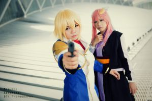 Gundam SEED Destiny: Cagalli and Lacus 2 by vampire-mage