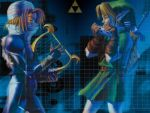 link and sheik by left-handed-monica7