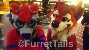 A Grumpy Sparky and A Happy Stupid Katana MFF 2013 by FurretTails