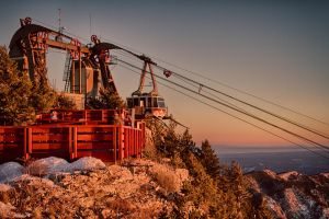 Sandia Peak Tramway Sunset by M-Lewis