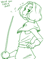 Tegaki: Swordplay Peasley by Pimmy