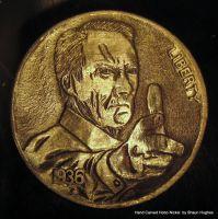 Clint Eastwood Gran Torino Hand Carved Hobo Nickel by shaun750