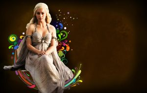 Daenerys Wallpaper by ghysella