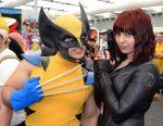 Wolverine and Black Widow Cosplay at Oz Comic Con by rbompro1