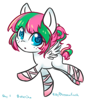 Filly Blossomforth Ballerina by BunniniArt