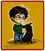 Harry 'n' Padfoot +chibis+ by k-tiraam