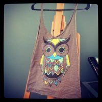 Owl Tshirt Tote Bag by AAMurray