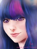 Humanized - Twilight Sparkle II by riotfaerie