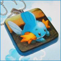 Mudkip Pokemon Card Necklace by bapity88