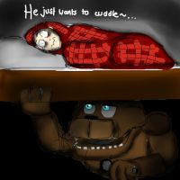 Monster under the bed - He just wants to cuddle~ by Stygie