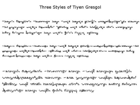 Three Styles of Tiyen Gresgol by LittlePigArt