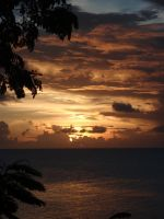 st lucian sunset by teenyb