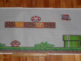 Beading Banner Plan: Super Mario Bros 16 bits by kayanah