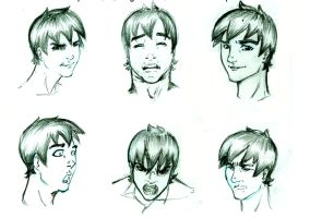 Damion Facial Expressions by Owari-likes-ducks