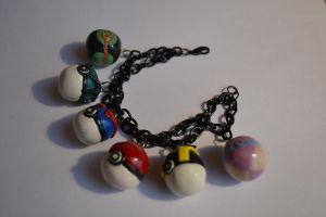 Pokeball Bracelet by WonderRabbit