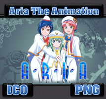 Aria The Animation V2 ICo & PNG by bryan1213