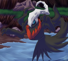 ArtTrade: Darkrai by Lifefantasyx