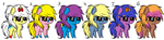 My Mane Six: Chibi by TargetGirl