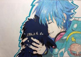 Aoba Seragaki and Ren (DRAMAtical Murder) by ZeroKiryuFan