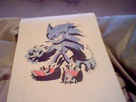 Sonic the Werehog:Colored by jessicaosteen96