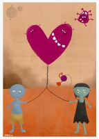 the heartballoonmonster by nicolas-gouny-art