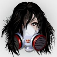Gas Mask Girl for Cathedral4 by kevykev-35