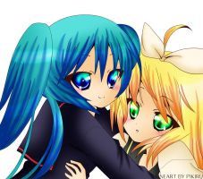 Vocaloids - MikuxRin by iluvlemonade