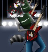 Rocking Racoon by kungfudemoness