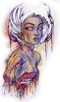 zombie pin up by Pallat