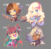 [CLOSED] Auction - chibi adopts with wings! by Hell-Alka