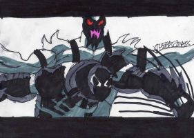 Anti-Venom fighting Venom by ChahlesXavier