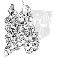 transformercon 2007 shirt art by markerguru