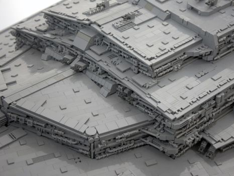 LEGO Imperial Star Destroyer front superstructure by Scharnvirk