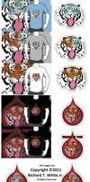 Tiger Blood T-shirt Set by SEspider