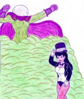 Zatanna vs Mysterio by Jose-Ramiro