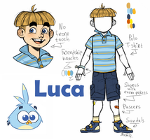 Angry Birds Stella : Luca humanization by MemQ4