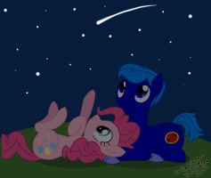 Request: Stargazing with Pinkie by GonzaHerMeg